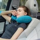 午睡枕     自動充氣枕頭U型枕便攜旅行枕坐車飛機護頸椎U形頸部靠枕睡覺神器   ATF英賽爾3C數碼店