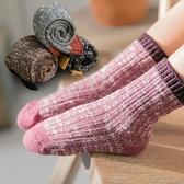 兒童襪子秋冬季純棉加厚復古1-3-5-8歲寶寶男童中筒襪女童棉襪子