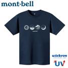 【Mont-Bell 日本 男 Wickron T恤 山的情景 短袖排T《深海軍藍》】1114412/t恤/抗UV