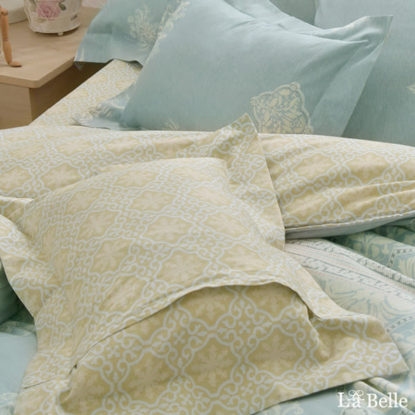 義大利La Belle《賽亞風範》單人純棉防蹣抗菌吸濕排汗兩用被床包組