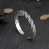 純銀手環(泰銀)-做舊創意生日情人節禮物女手鐲73gg113【時尚巴黎】