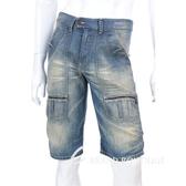 KENZO 仿舊刷色牛仔五分褲(淺藍色) 0620966-34