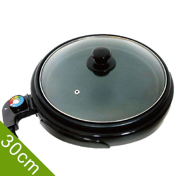 LAPOLO 低脂煎烤盤/桌上型電烤盤 LA-9121 圓煎烤鍋 煎烤盤/圓鍋型 中秋烤肉 附玻璃鍋蓋 直徑30cm