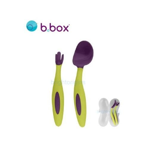 ☆愛兒麗☆澳洲 b.box 專利湯匙叉子組(葡萄紫)