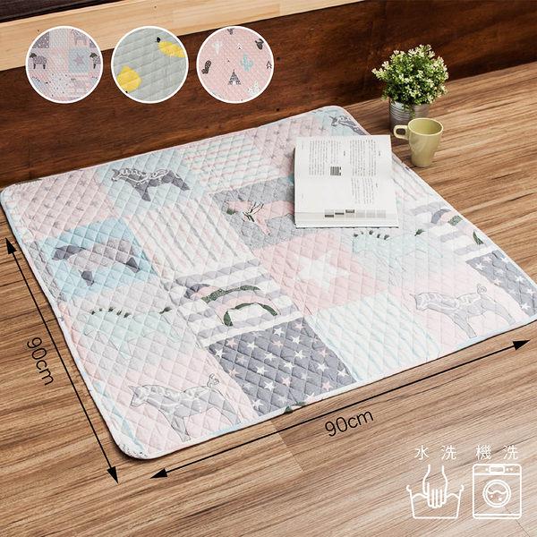 萬用墊 親膚純棉絎縫地墊-90X90cm