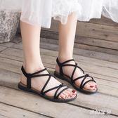 平底羅馬涼鞋 女新款夏季百搭女仙女風鞋子潮 yu3908『夢幻家居』