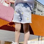 女童牛仔短褲夏季2021年薄款洋氣新款時髦韓版休閒兒童外穿潮童 夏季新品