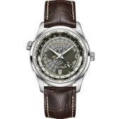 Hamilton 漢米爾頓 JAZZMASTER GMT世界圖騰機械腕錶 H32605581
