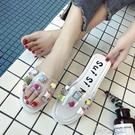 沙灘涼拖鞋厚底一字拖女海邊度假新款外穿學生韓版時尚 洛小仙女鞋