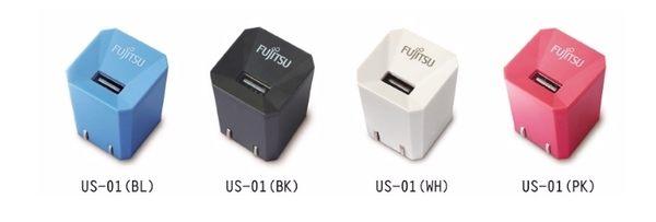 新竹【超人3C】FUJITSU 富士通 1A電源USB充電器 電源供應器 (白/粉) US-01 ◆通過台灣安規認證