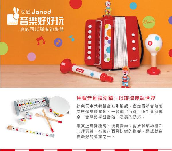 法國Janod創意兒童智玩 音樂好好玩 手搖齒木 玩具 里和家居