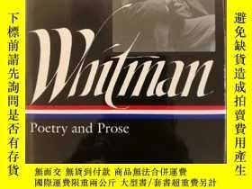 二手書博民逛書店Walt罕見Whitman: Poetry and Prose(布面精裝)Y117832 Walt Whitm