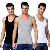 男士背心純棉運動潮牌寬鬆夏季修身型大碼男健身全棉青年透氣打底  泡芙女孩輕時尚