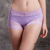 La Queen 典雅蕾絲全蠶絲內褲(7330 淺紫)