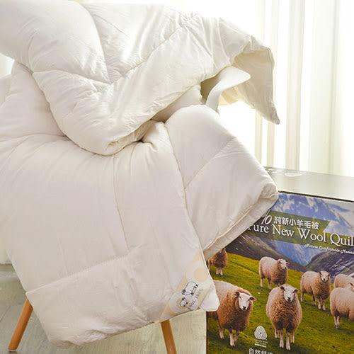 棉被/冬被-100%純新小羊毛被-9667-雙人-6x7尺-台灣製造-國際羊毛局認證-(好傢在)