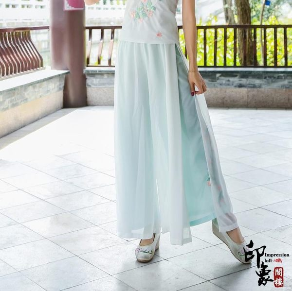 漢元素日常改良漢服重工刺繡宋褲褲裙 618降價