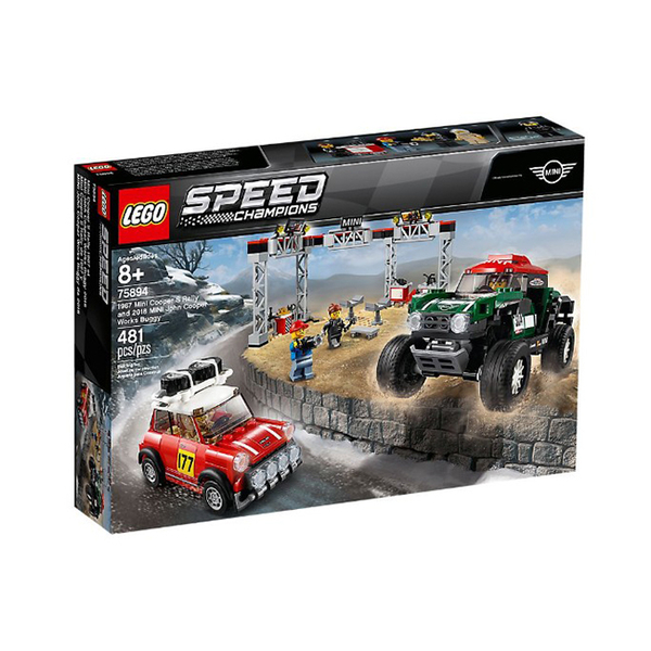 75894【LEGO 樂高積木】賽車系列 Speed-1967 Mini Cooper S 與 2018 MINI JCW Buggy