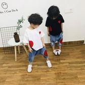 兒童夏季衣服潮5洋氣韓版短袖帥氣兩件套