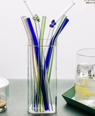 全館83折摩登主婦 創意玻璃吸管高硼硅玻璃多彩耐熱玻璃彎頭玻璃杯吸管