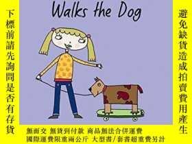 二手書博民逛書店Just罕見Grace Walks the Dog (The Just Grace Series)-Just Gr