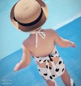 兒童泳衣 2020夏裝新款女童泳衣兒童中小童親子母女露背泳裝女孩寶寶游泳衣