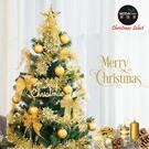 摩達客耶誕-6尺/6呎(180cm)特仕幸福型裝飾綠色聖誕樹 (金色年華)含全套飾品不含燈
