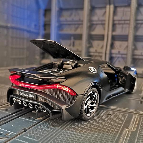 1:32仿真布加迪跑車模型合金車模金屬玩具車男孩生日禮物擺件飾品 「夢幻小鎮」