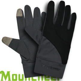 【Mountneer 山林 中性抗UV觸控手套 黑】11G01/觸控手套/觸控手機/手套★滿額送