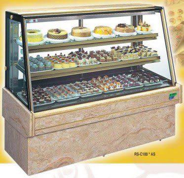 斜玻大理石型 西點蛋糕冷藏櫃【4尺冰櫃】型號:C-104AS