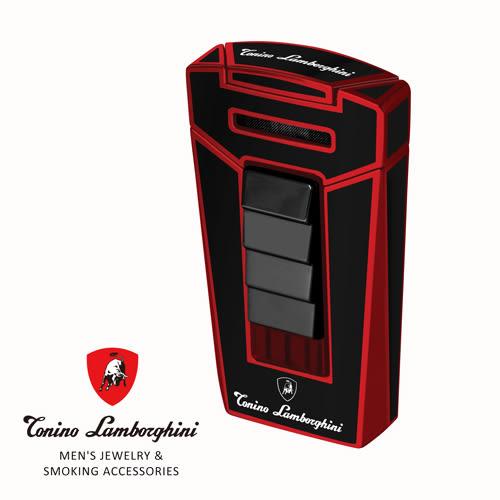 新品上市!義大利 藍寶堅尼精品 - AERO LIGHTER 打火機(經典紅黑色) ★ Tonino Lamborghini 原廠進口 ★