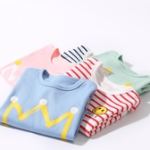現貨 嬰兒長袖純棉T恤衫打底衫薄款秋裝男女童【櫻田川島】