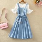 洋裝夏裝連身裙兩新款背帶2020女裝仙女裙仔裙子女件套套裝 korea嚴選