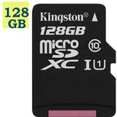 KINGSTON 128GB 128G microSDXC【80MB/s】microSD SDXC SD UHS-I U1 C10 Canvas Select SDCS/128GB 金士頓 手機記憶卡