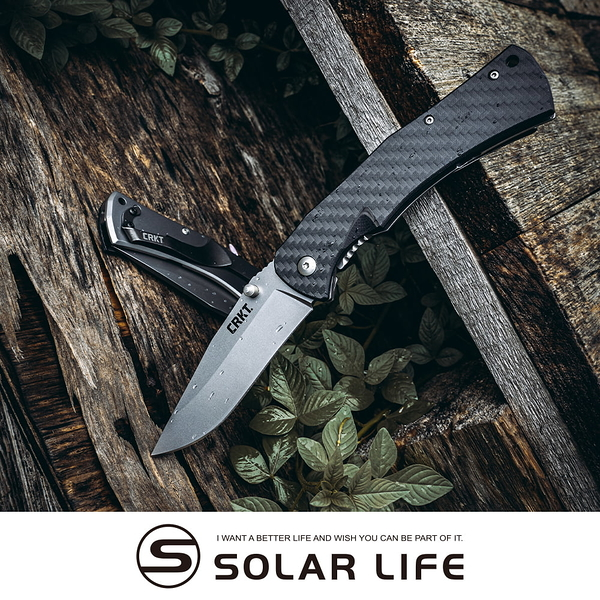 CRKT XAN 不鏽鋼折刀 碳纖維握柄-2085.戰術折刀 口袋摺疊刀具 EDC隨身刀 G10露營刀 戶外求生刀