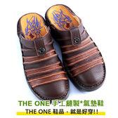 (88節.超體驗)【男鞋】經典拖鞋款/MODO超輕底--THE ONE 氣墊鞋 (全牛皮)-TK01009 咖啡