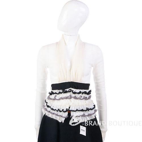 PAOLA FRAN 米白色蛋糕下襬設計小外套 0940071-03