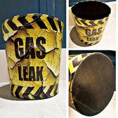 工業風皮質垃圾桶. 收納桶 皮革置物桶 M418-11【伊家伊生活美學】