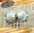【YT店髮飾】綠色柔情緞帶蝴蝶結髮夾/髮飾/頭飾/鯊魚夾(G010)