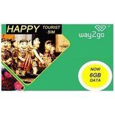 越南 升級版Way2Go Mobifone 15日上網+通話卡 6GB 4G數據+限速任用 (購潮8)