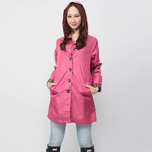 日本韓國 時尚雨衣 收腰修身 女戶外雨披- 99206