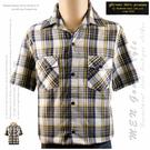 【大盤大】gifevans 薄襯衫 L號 短袖 襯衫 男 夏 百貨 原裝 禮物 格子 上衣 口袋 棉衫 休閒 輕旅行