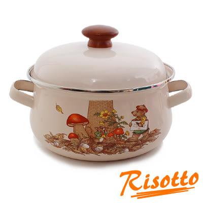 【福利品出清】RISOTTO法式鄉村琺瑯系列-手繪童話雙耳湯鍋2L-01(無蓋)