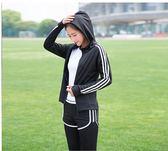 瑜伽服女外套大碼寬鬆速乾上衣晨跑專業健身服跑步運動套裝    潮流前線