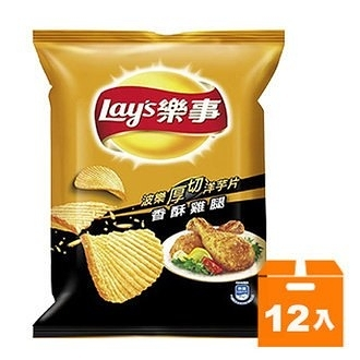 Lay s 樂事 波樂香酥雞腿味洋芋片(小) 43g (12入)/箱【康鄰超市】