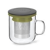 丹麥泡茶玻璃杯350ml 2.0 (黑+綠)