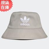 【現貨】ADIDAS Originals Bucket Hat 帽子 漁夫帽 流行 休閒 三葉草 刺繡 灰【運動世界】GN4905