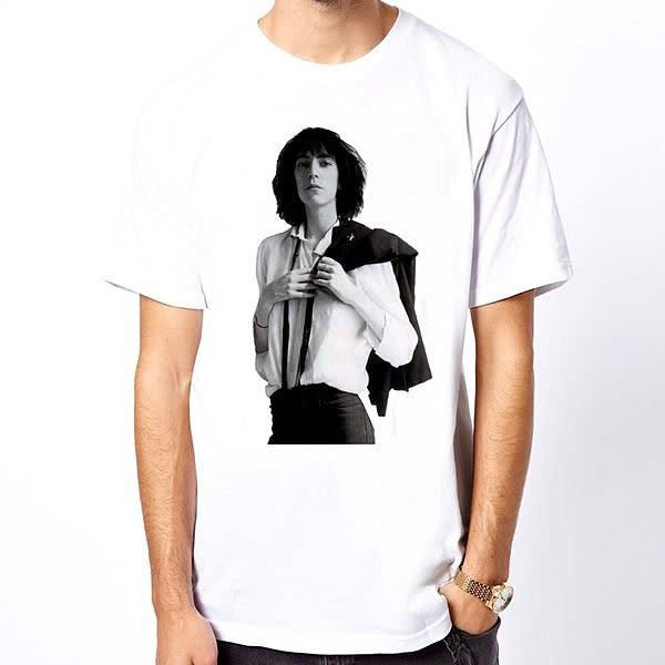 Patti Smith-horses短袖T恤-白色 設計裸女情色潮流搖滾樂團趣味幽默