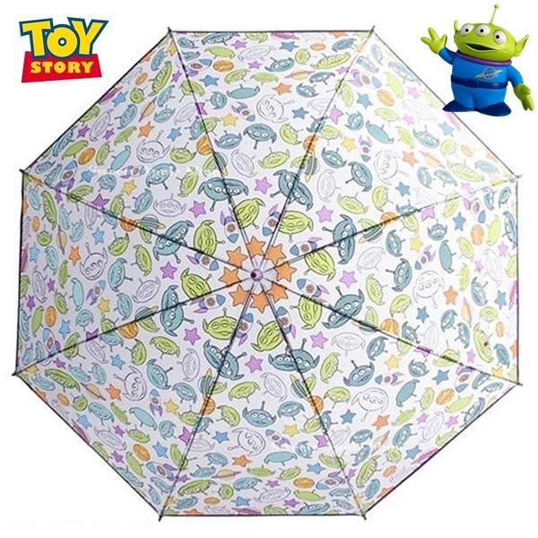 日本限定 迪士尼 玩具總動員 三眼怪 滿版表情大臉 透明 直立雨傘 / 雨傘