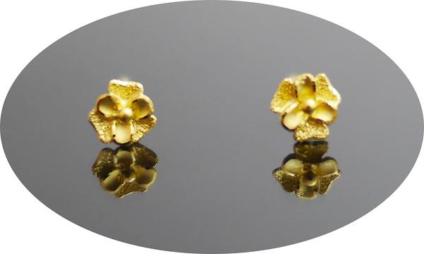 gold 黃金 耳環 金飾 保證卡 重量0.20錢 [ ge 074 ]