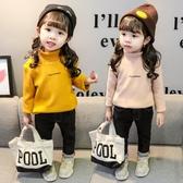 女童秋冬裝打底衫1-3歲童裝上衣春秋嬰兒女寶寶2-4兒童加絨衛衣『快速出貨』